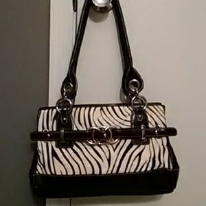 💥SALE💥Zebra Wilson's Leather FauxFurShoulder Bag